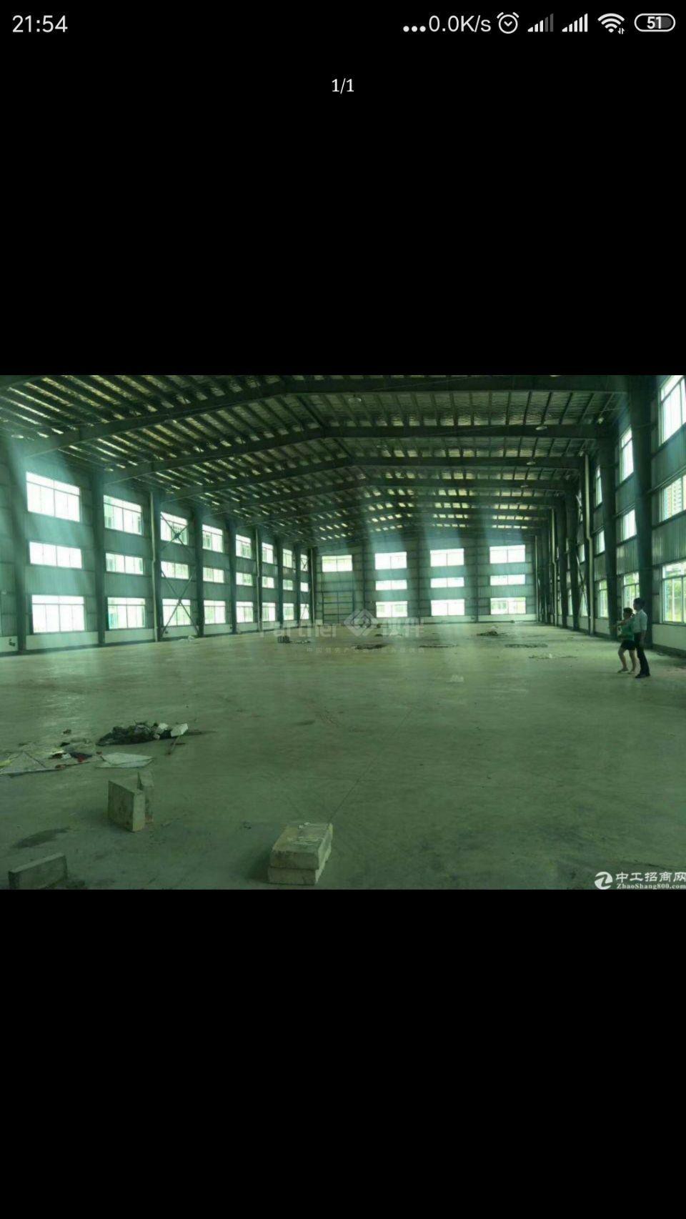 国道边钢构厂房面积实量5500平米招租