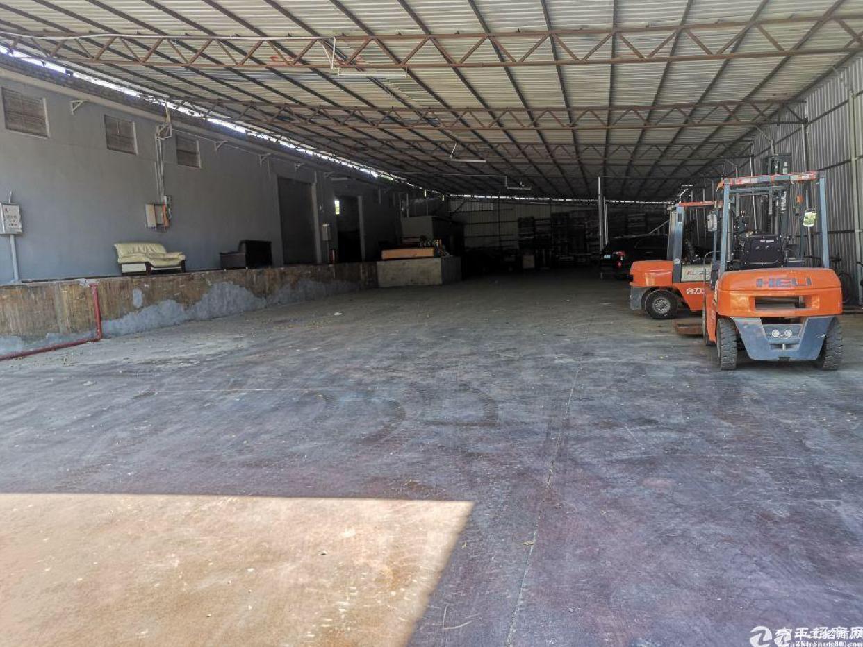 天河区珠吉路边单一层标准厂房仓库1300平出租,空地大