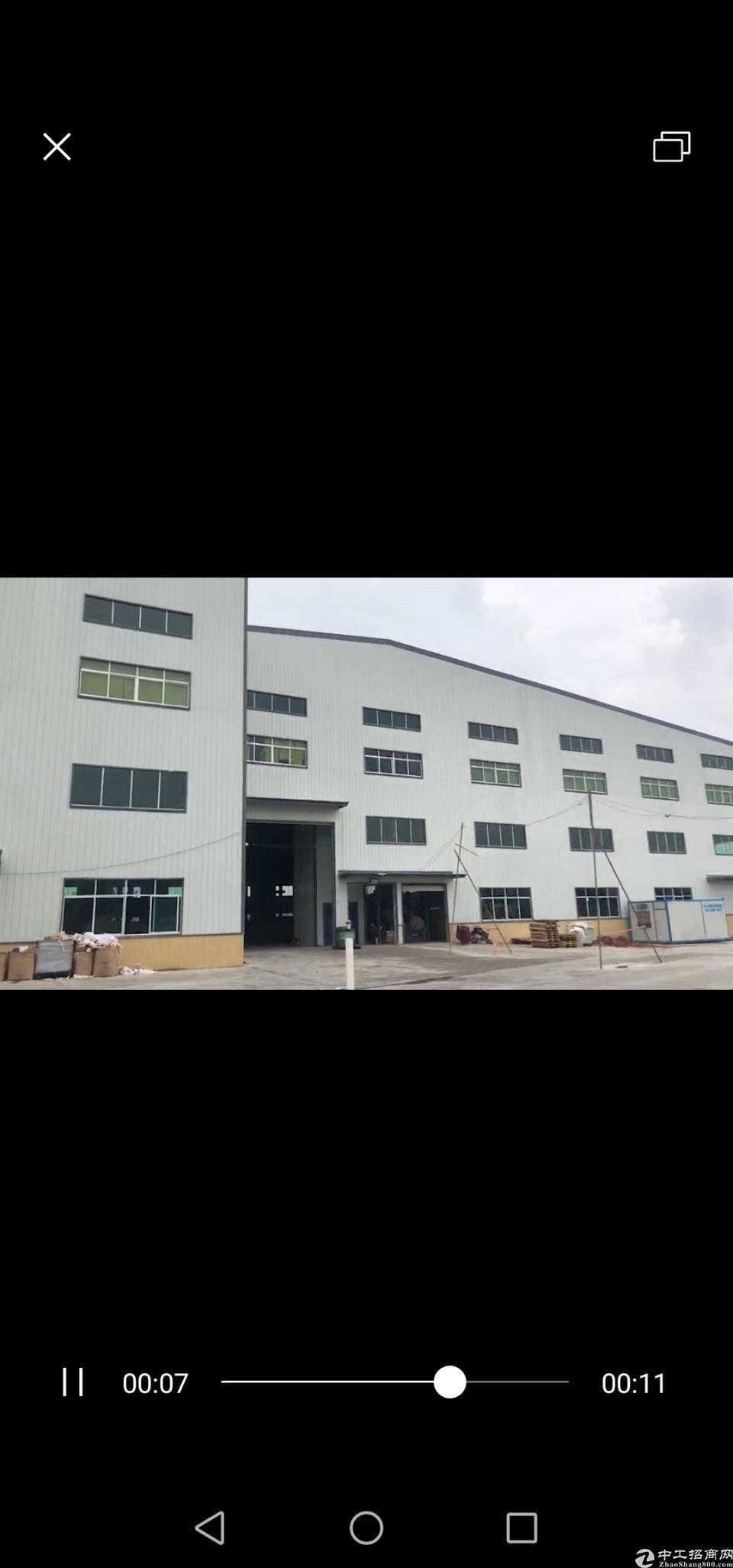 茶山镇高新科技产业园全新钢构两层厂房20500平米待租。 [