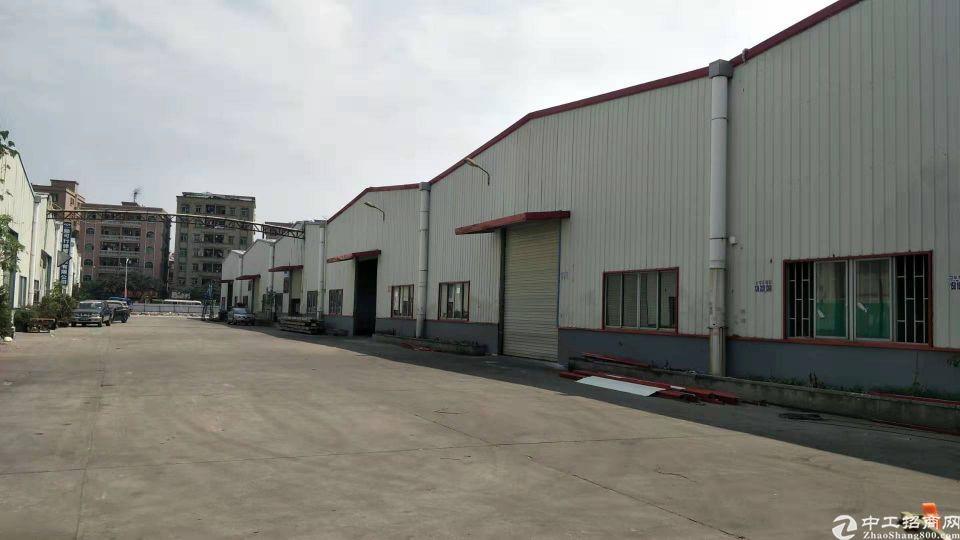 长安镇上沙新出单一层钢构厂房1330平方招租