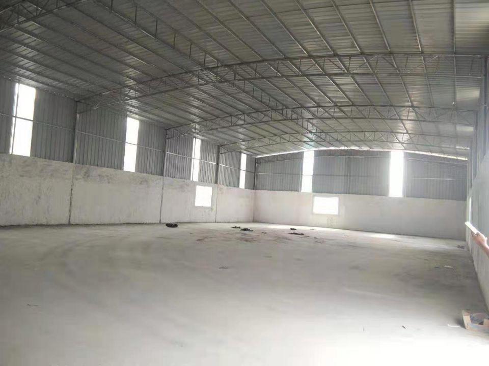 虎门顺地工业区,刚空出独院钢结构厂房5000方,院子大