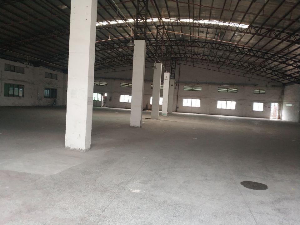 石碣工业区分租一栋砖墙到顶单一层2000㎡,现成装修办公室。