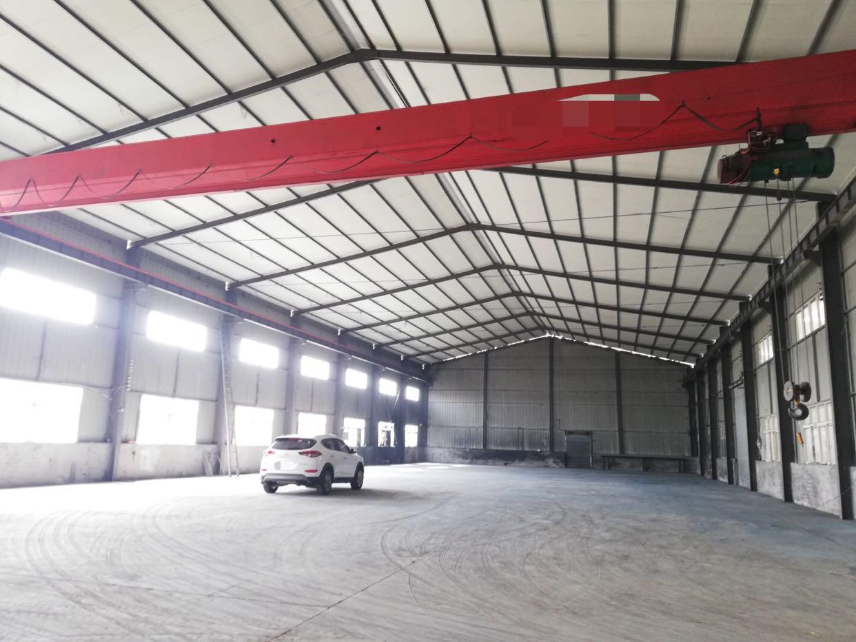 蔡甸1500平小型钢结构厂房 可机电加工 交通便利