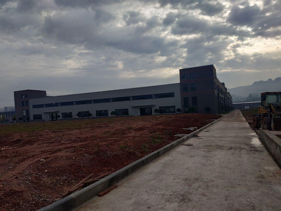 大渡口标准钢结构厂房带办公楼层高9米有行车腿跨度24米