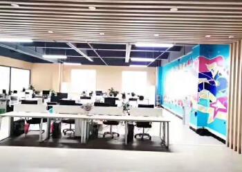 龙华大浪新出楼上带精装修办公室1500平面积出租图片4