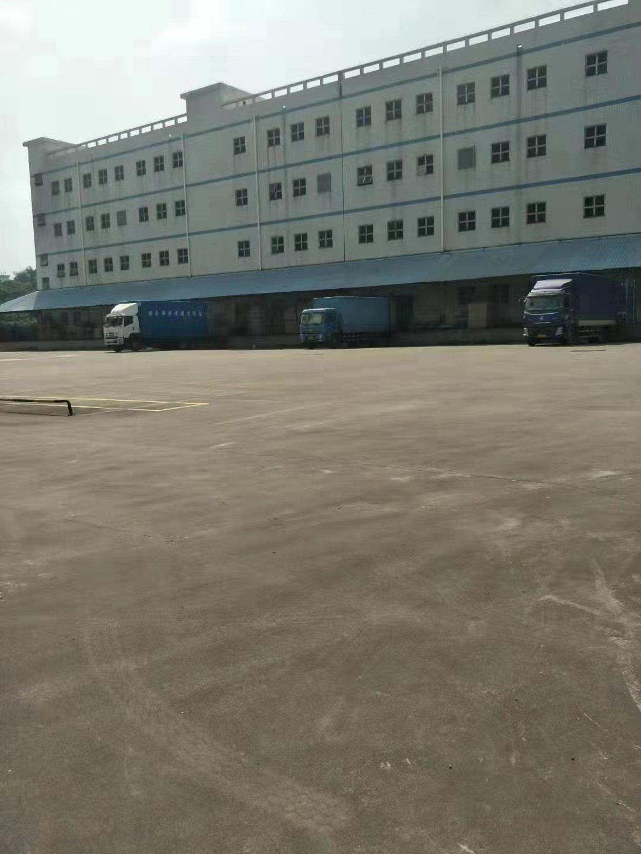 龙华标准物流仓库1-5层,空地有5000平方,带卸货平台