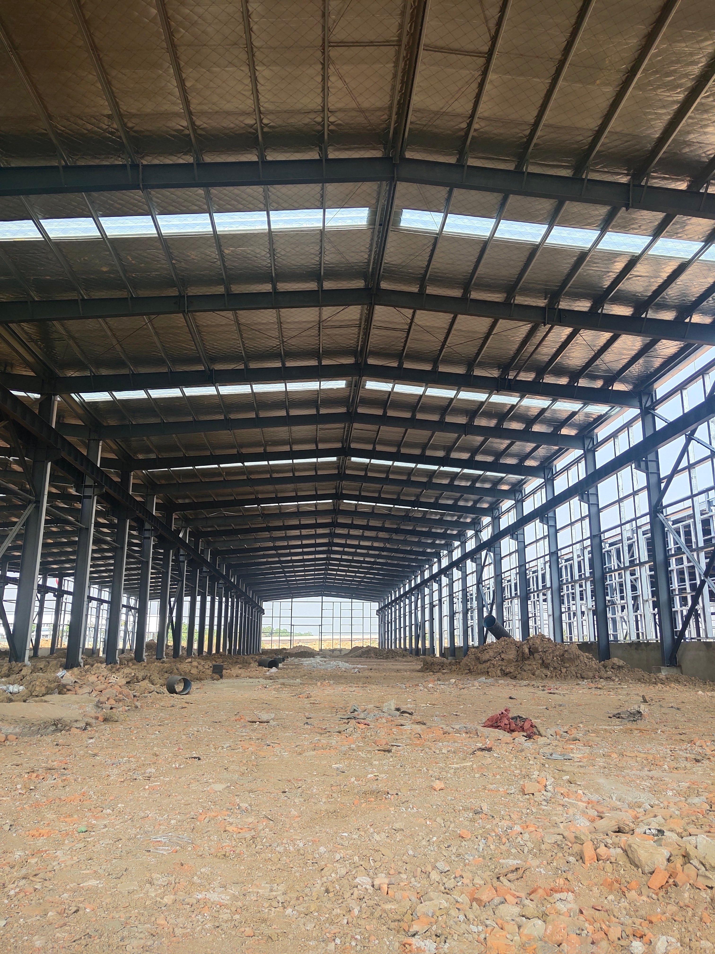售前川24米跨高标钢构厂房,高11.8米-图6