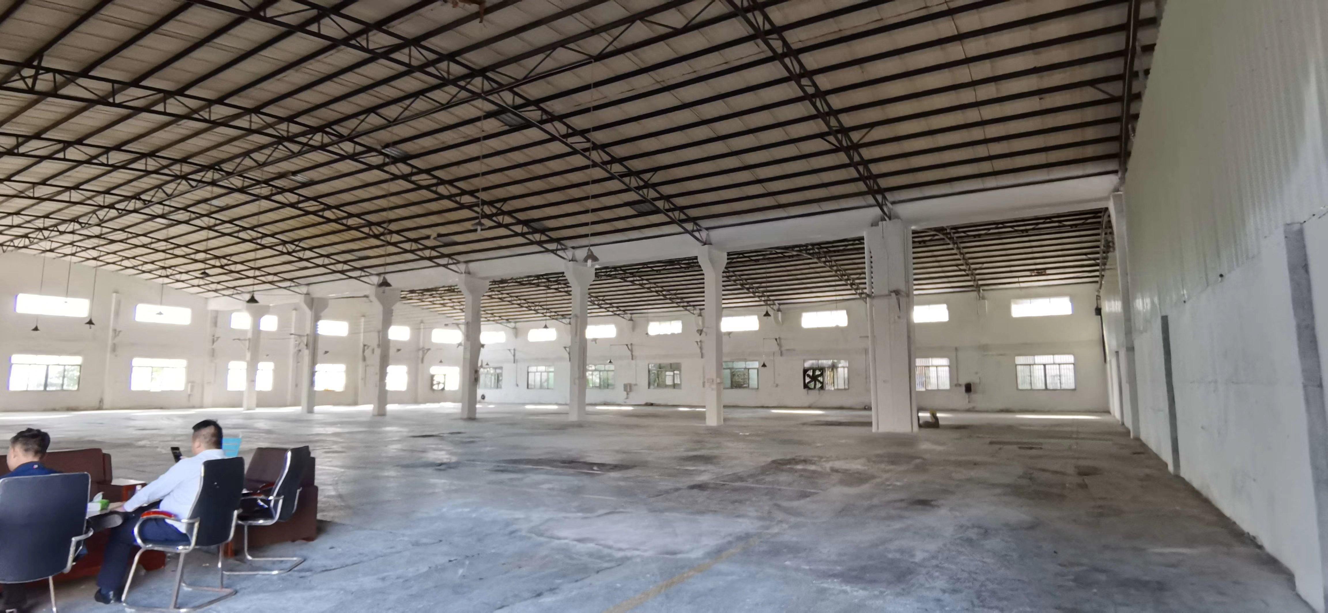 园洲独院滴水8米12001平方单层砖墙到顶厂房出售