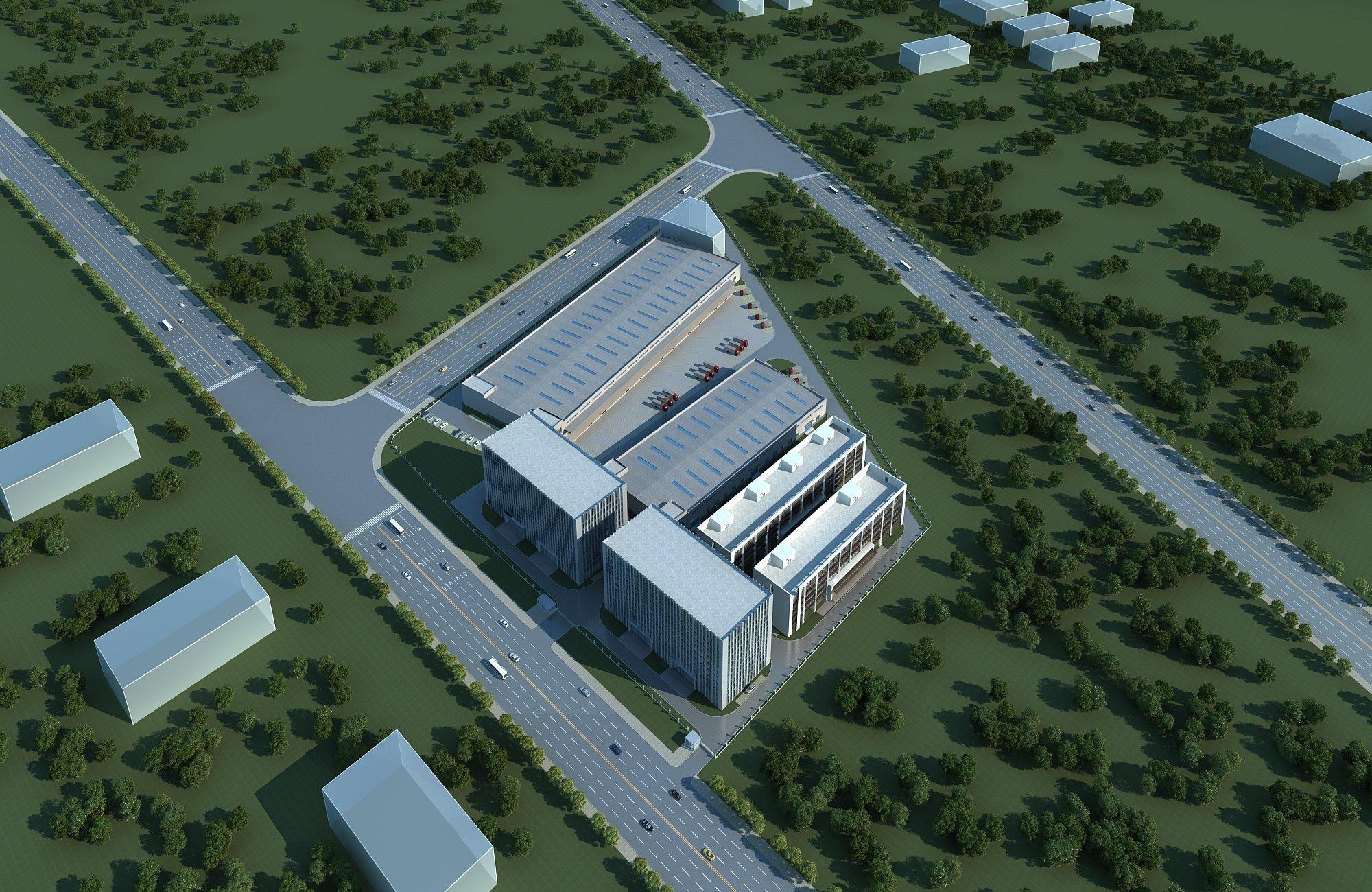 售前川24米跨高标钢构厂房,高11.8米-图3