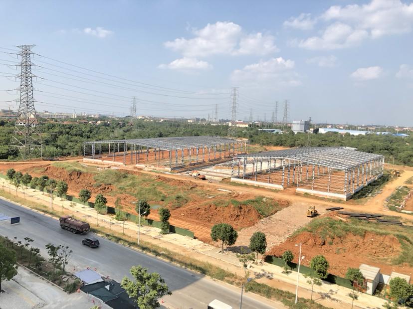 黄陂汉口北工业城附近钢构厂房出租,最小500平,层高12米