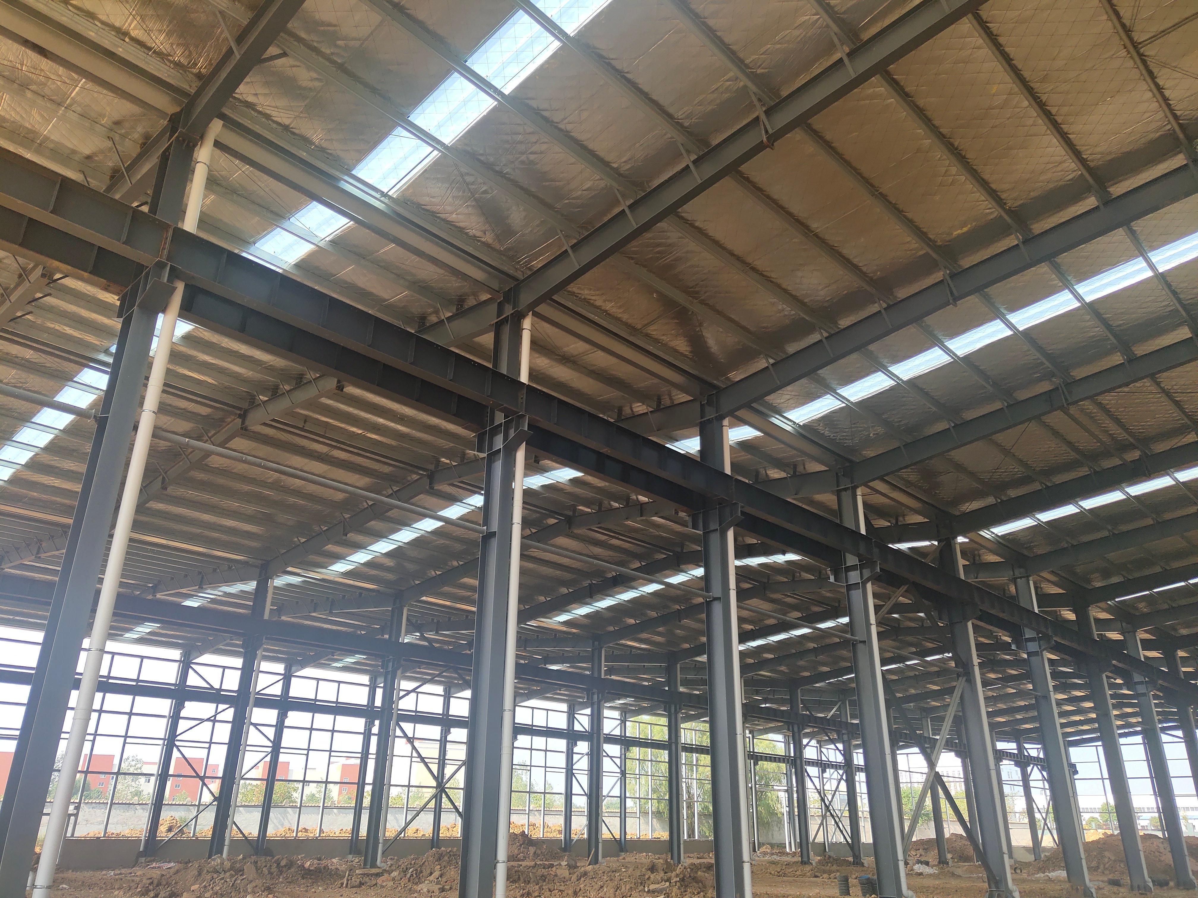 售前川24米跨高标钢构厂房,高11.8米-图2