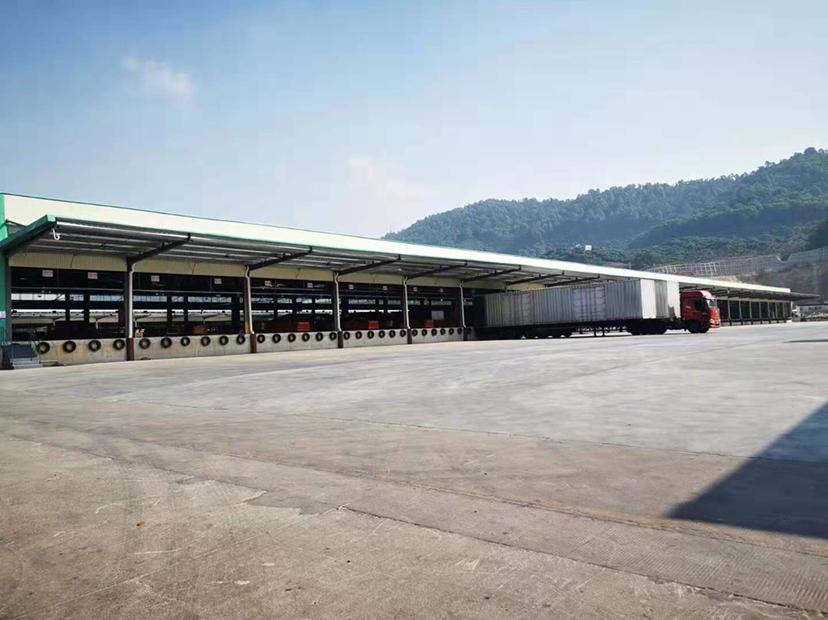 高速出口标准物流仓出租高台仓双面卸货平台-图2