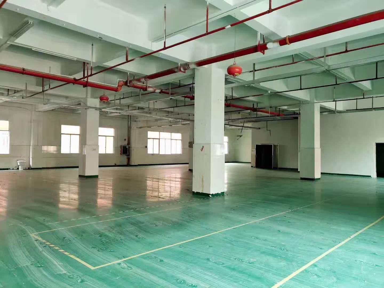 西乡勒竹角大门附近新出楼上1400平红本厂房出租可分租,