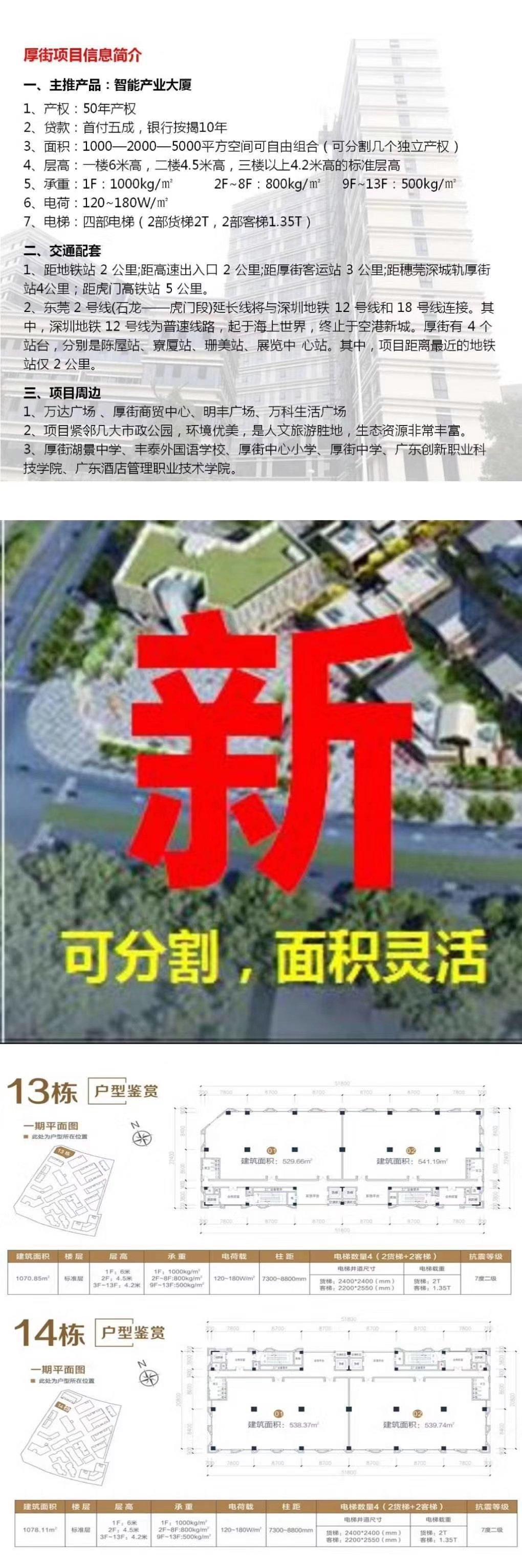 原房东全新厂房买卖50年产权