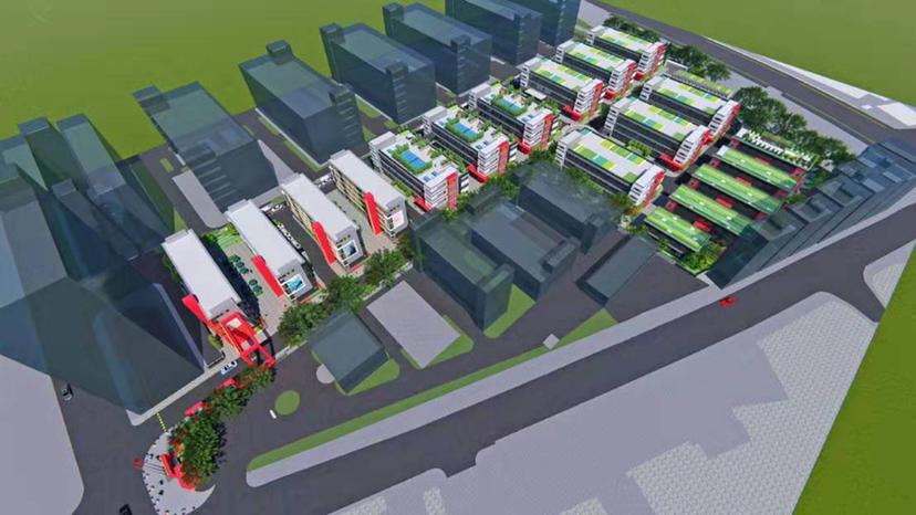 坂田五和地铁口附近原房东15栋精品独栋厂房出租1200平方起