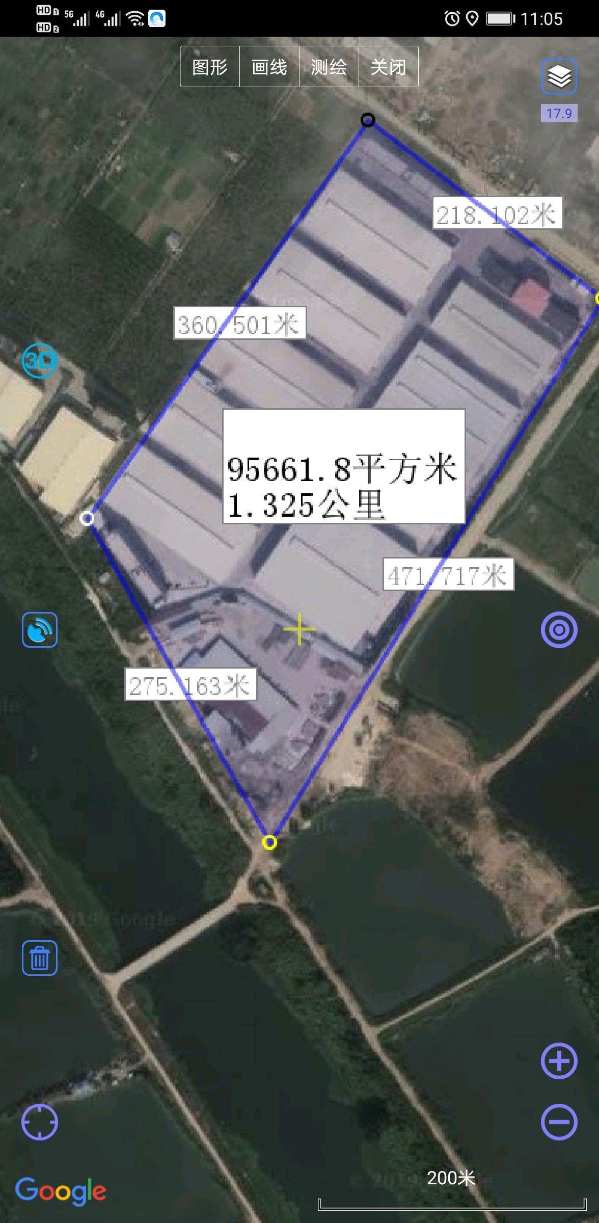 惠東國有證廠房占地9萬多平方,建築5萬多,售價1.6億。