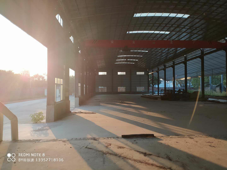 佛山里水,单一层重工厂房,实量长163米高9.5米,高速入口