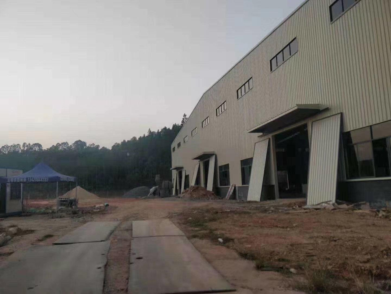 全新明包钢结构厂房两栋17000平米,滴水10米高带牛角-图2