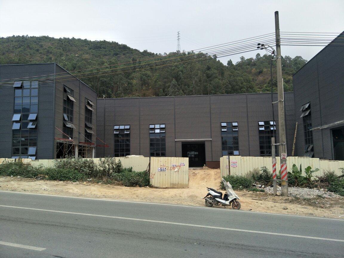惠阳新圩镇国道边独门独院全新钢构厂房8800平米