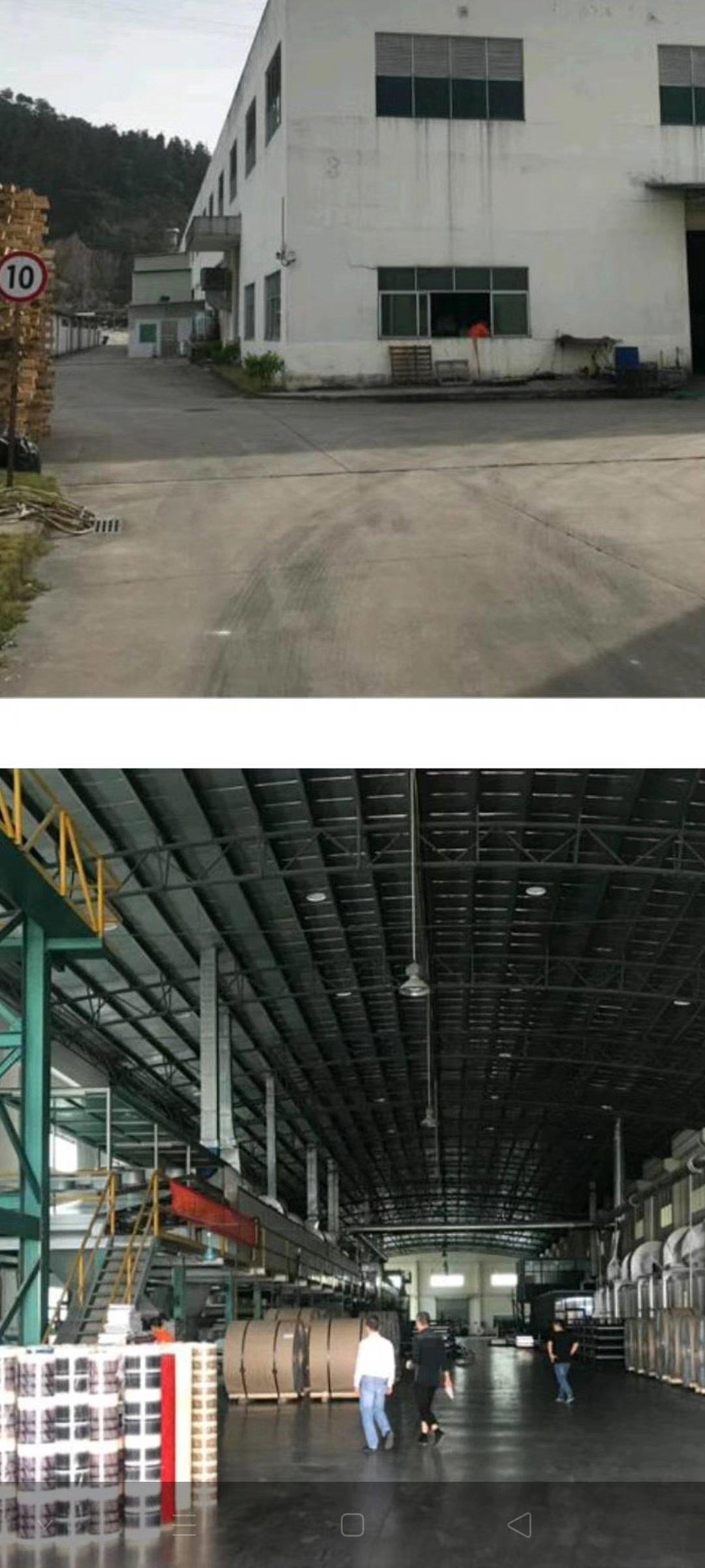 独门独院单层钢构厂房,厂房高12米,8层新,空地超大。