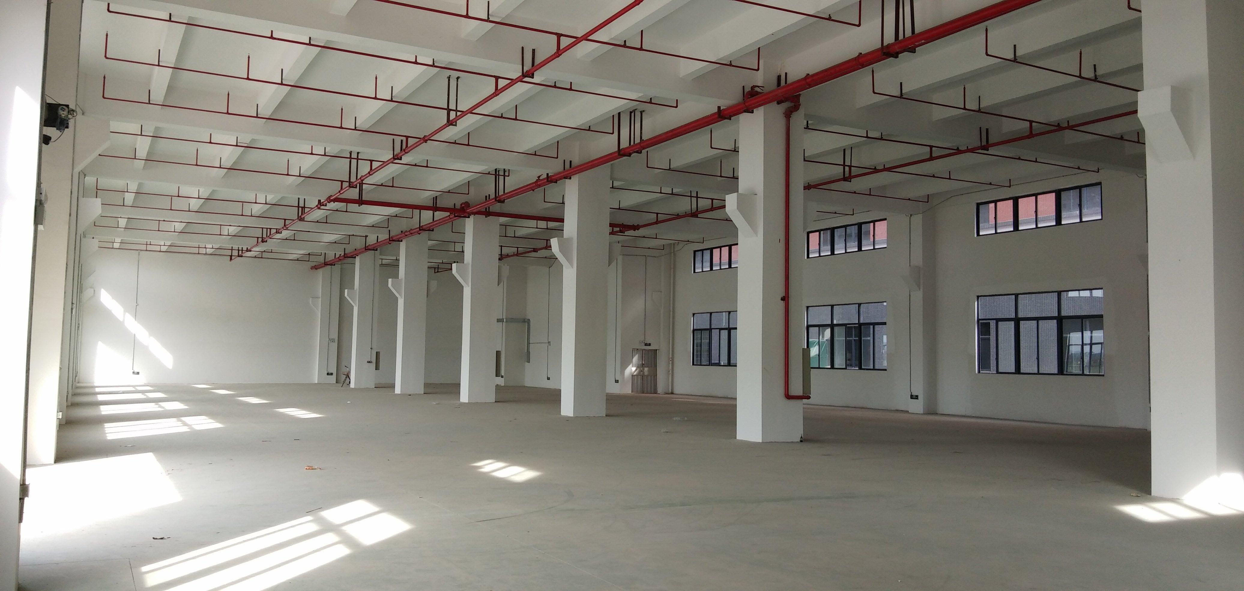 顺德区勒流镇富安工业标准一楼厂房1200平,高度7米带牛角位