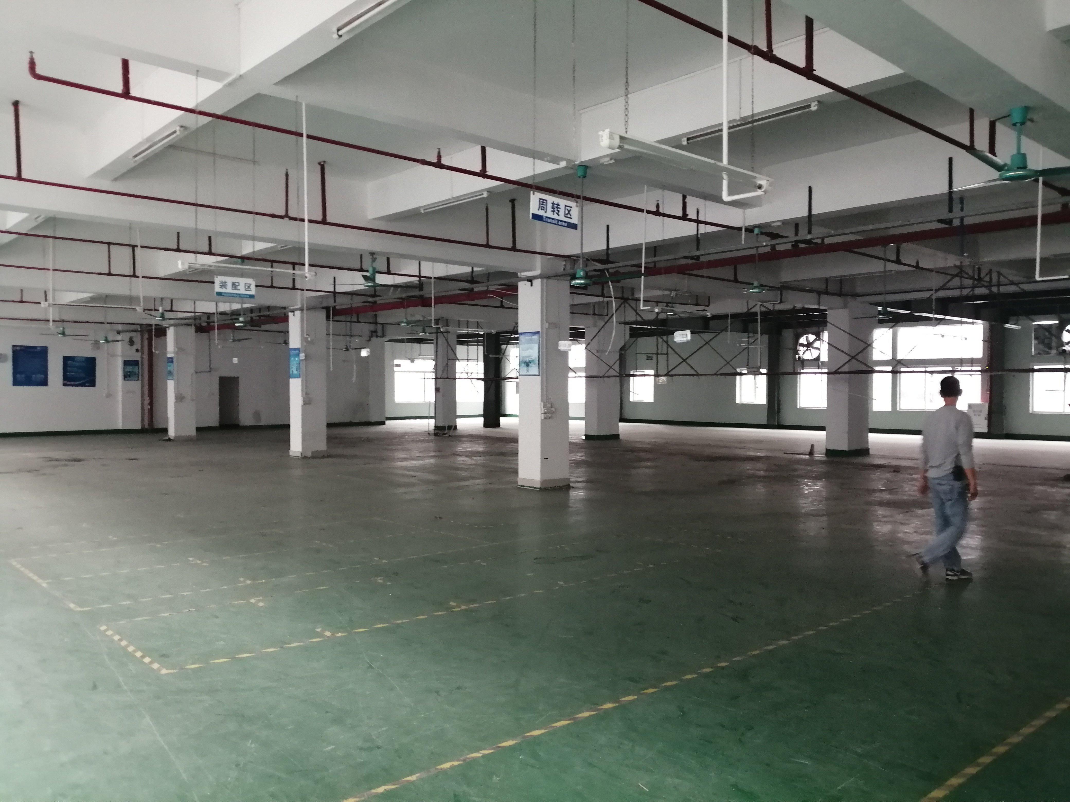 工业区三楼一层3000平方厂房出租有办公室装修-图5