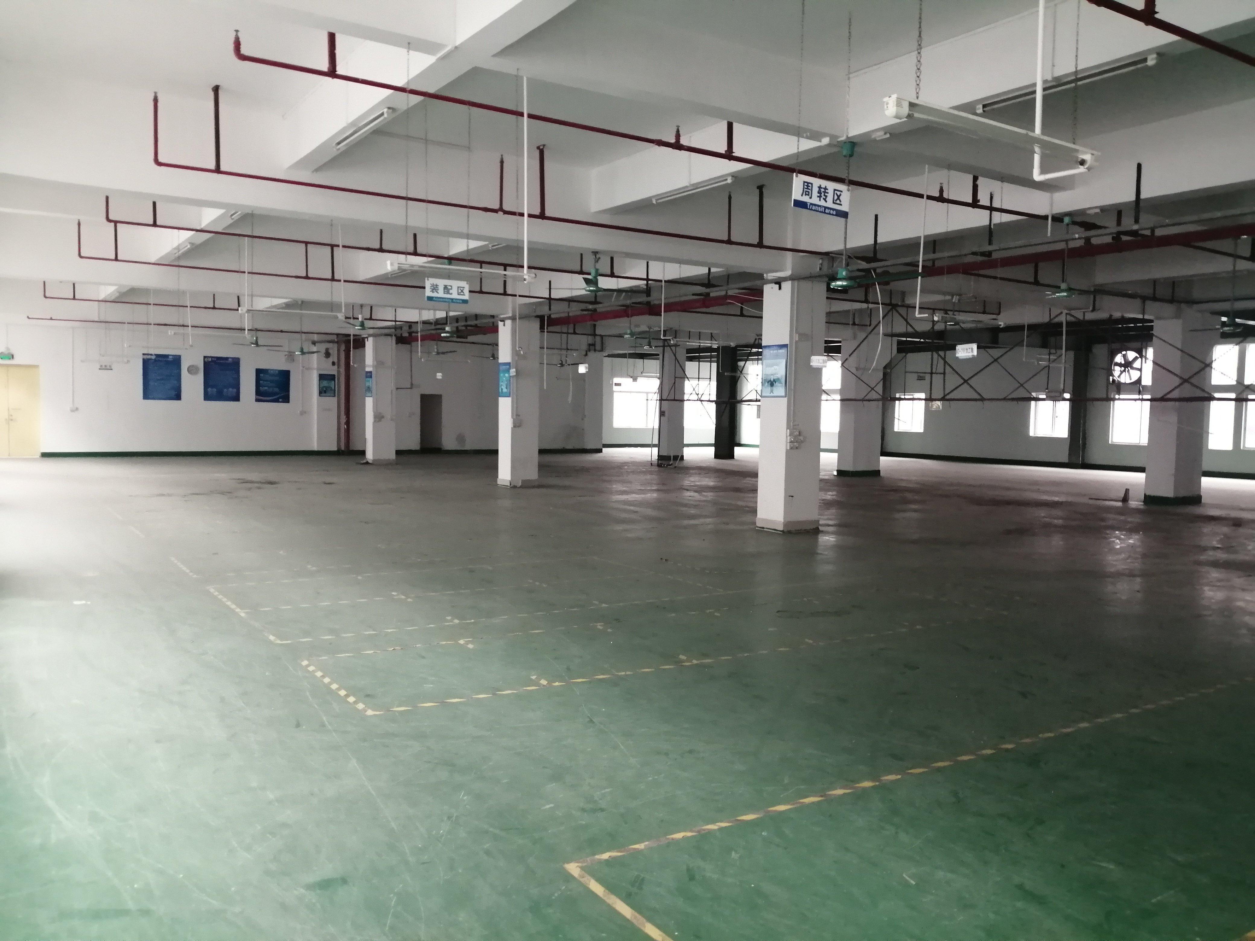 工业区三楼一层3000平方厂房出租有办公室装修-图4
