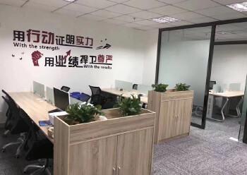 龙华清湖地铁站附近楼上新出一套带全套家私办公室出租图片1