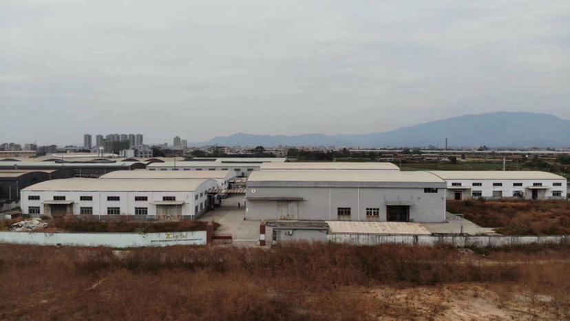 惠州市博罗县园洲新出滴水9米12800平方砖墙到顶钢构