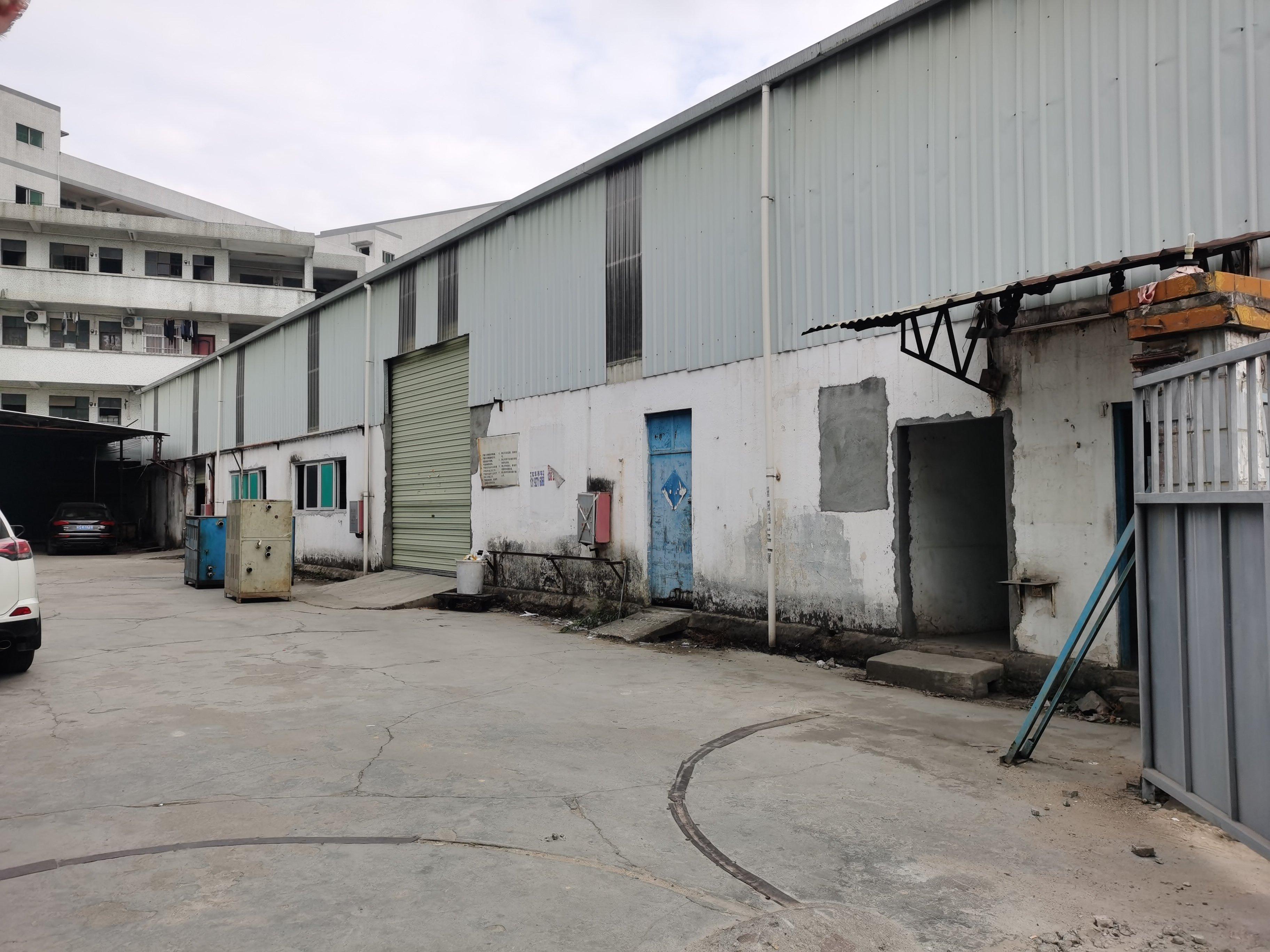 黄江镇工业园单一层钢结构厂房出租分租1000平方,独栋空地大