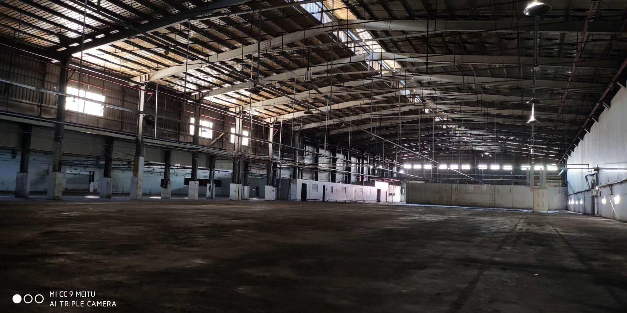 东莞虎门沿江高速出口24000平米单层物流仓库出租