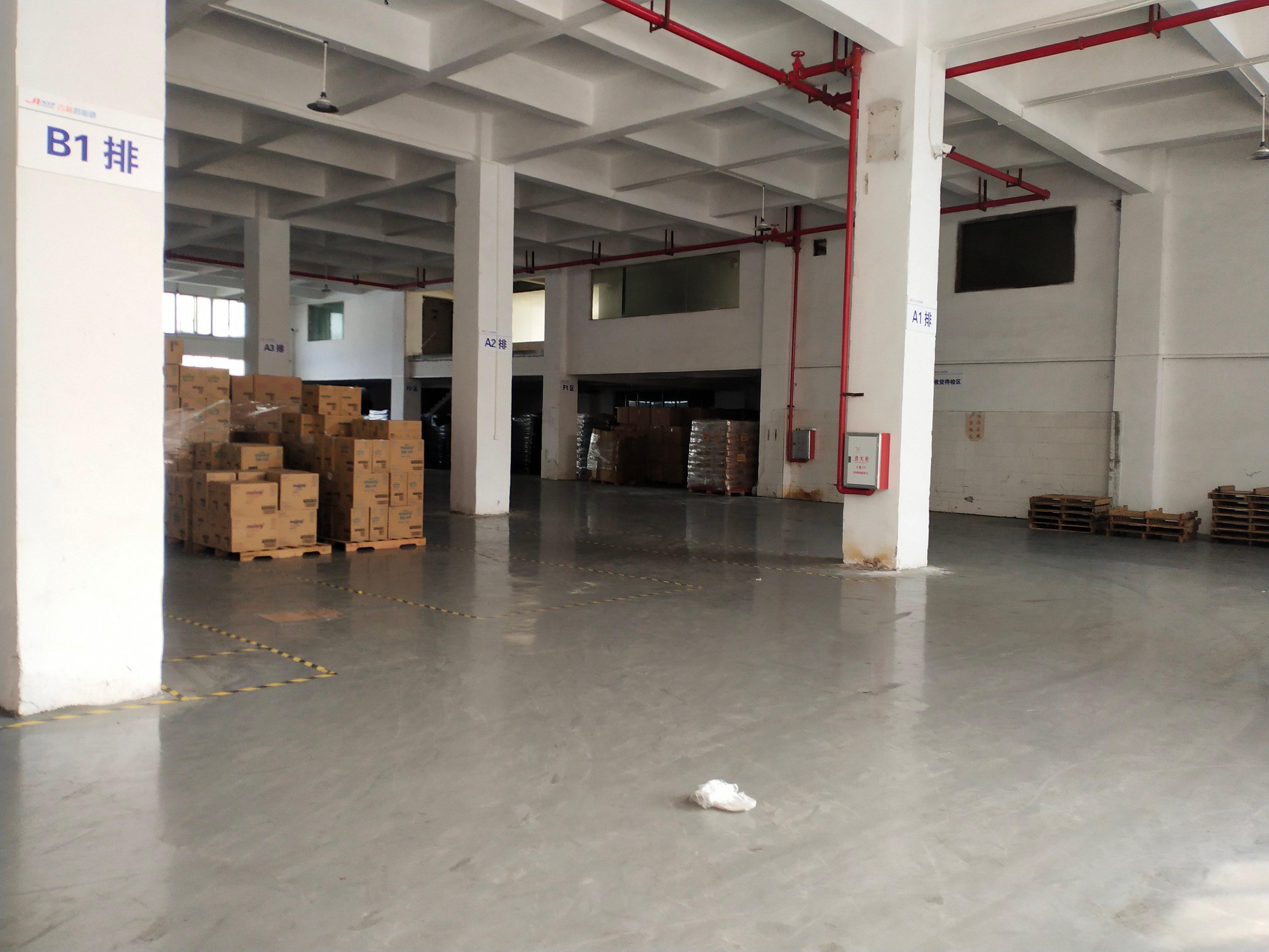 黄浦南岗街道一楼全新地坪漆厂房,滴水6.8米招租,可办环评