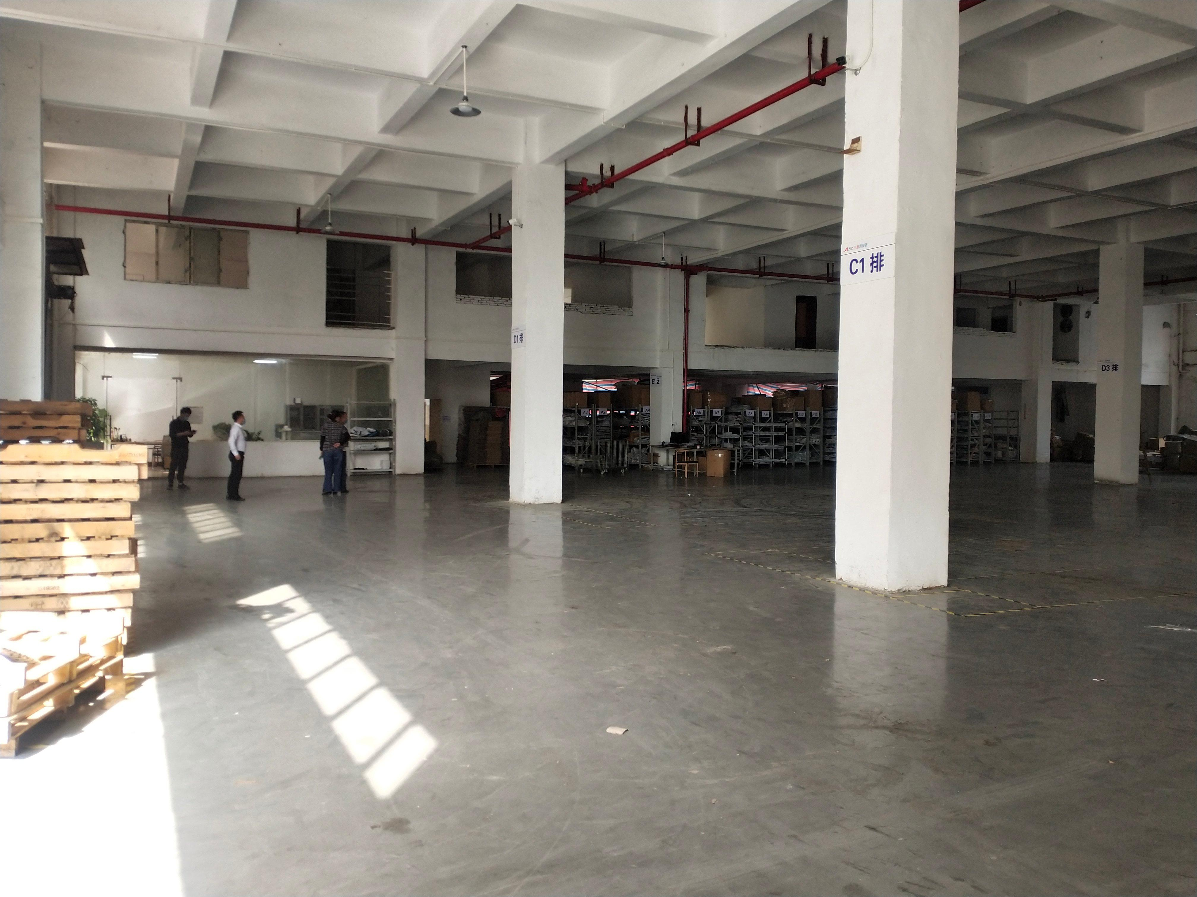 黄浦南岗街道一楼全新地坪漆厂房,滴水6.8米招租,可办环评-图2
