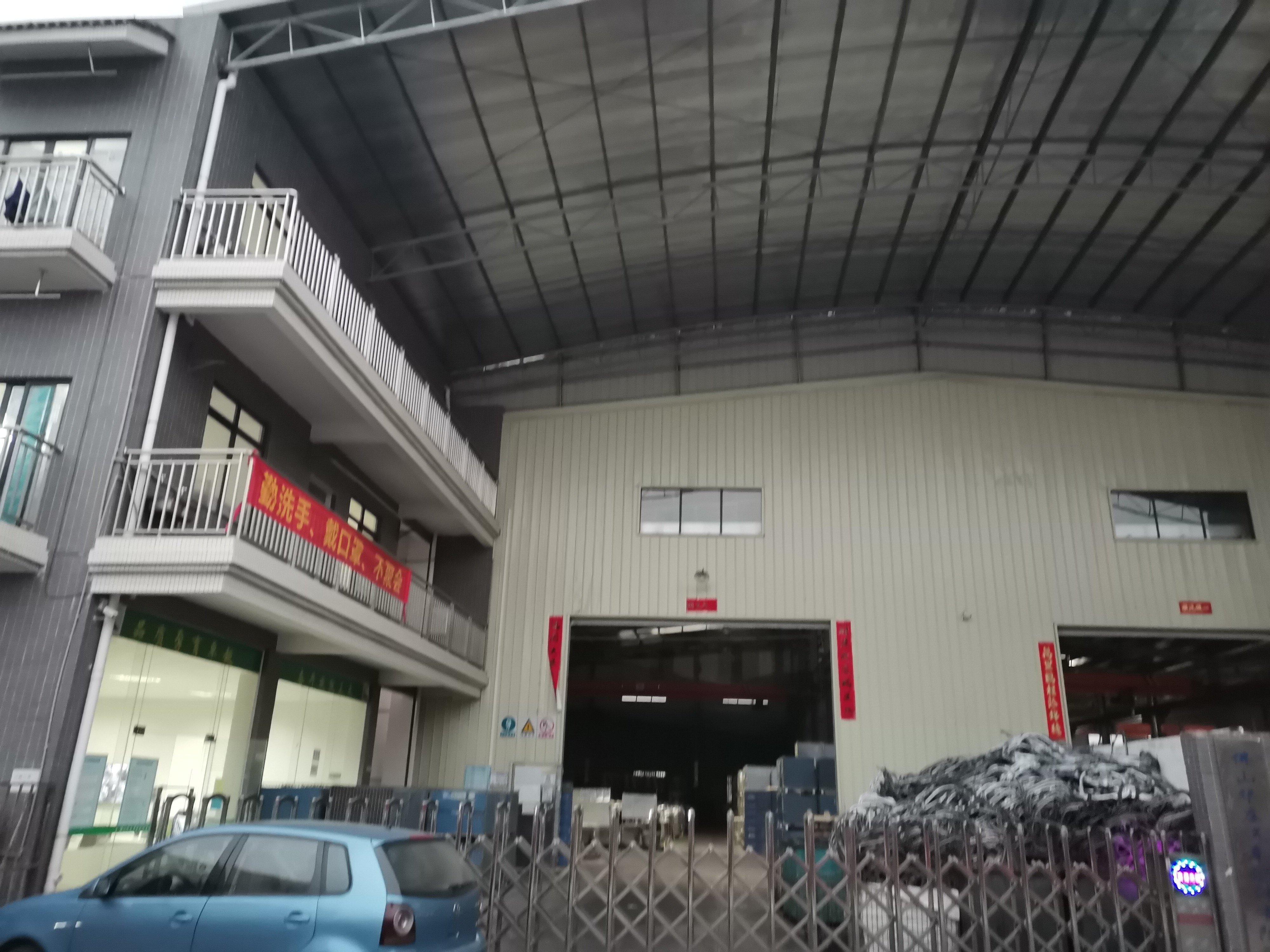 南庄单层10米高独院厂房带行车出租1800方
