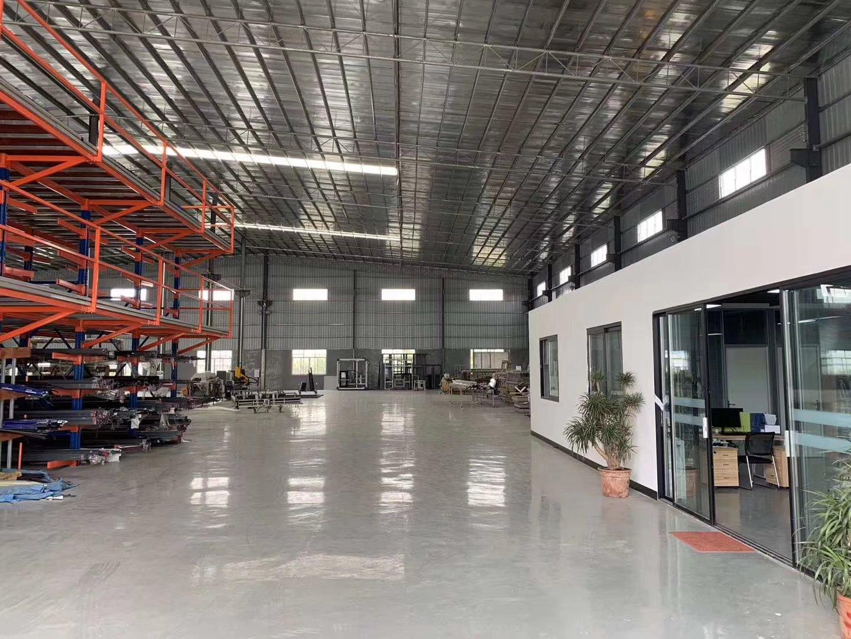 松岗独院全新单一层钢构厂房,带精装修办公室出租