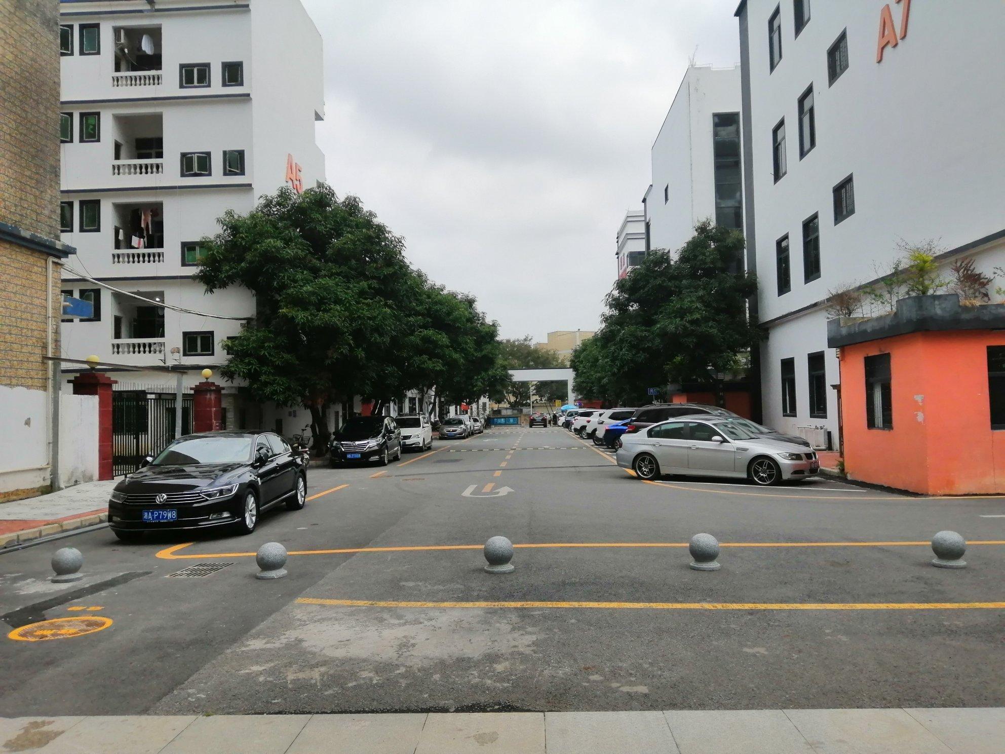 观澜龙澜大道旁楼上精装厂房750平一层,全新装修,88起分。