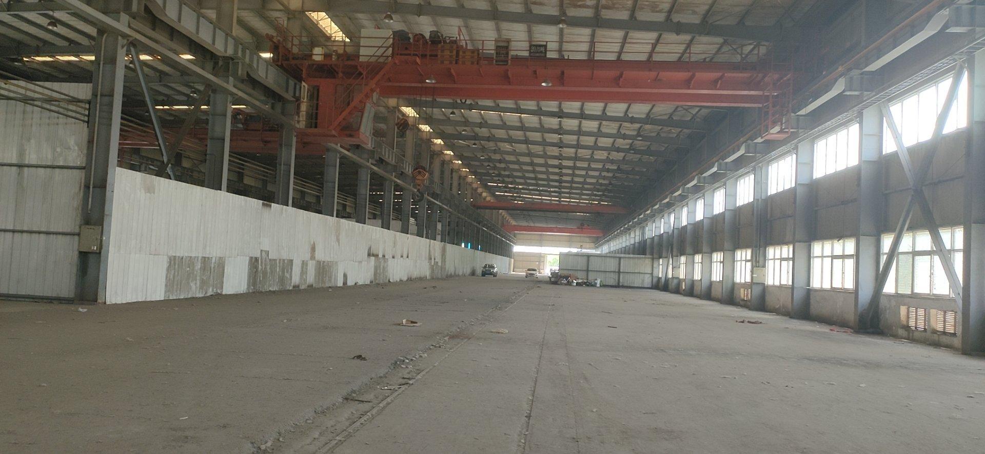 蔡甸5000平钢构万博app官方下载,高12米檐10米,5-20吨行车三台