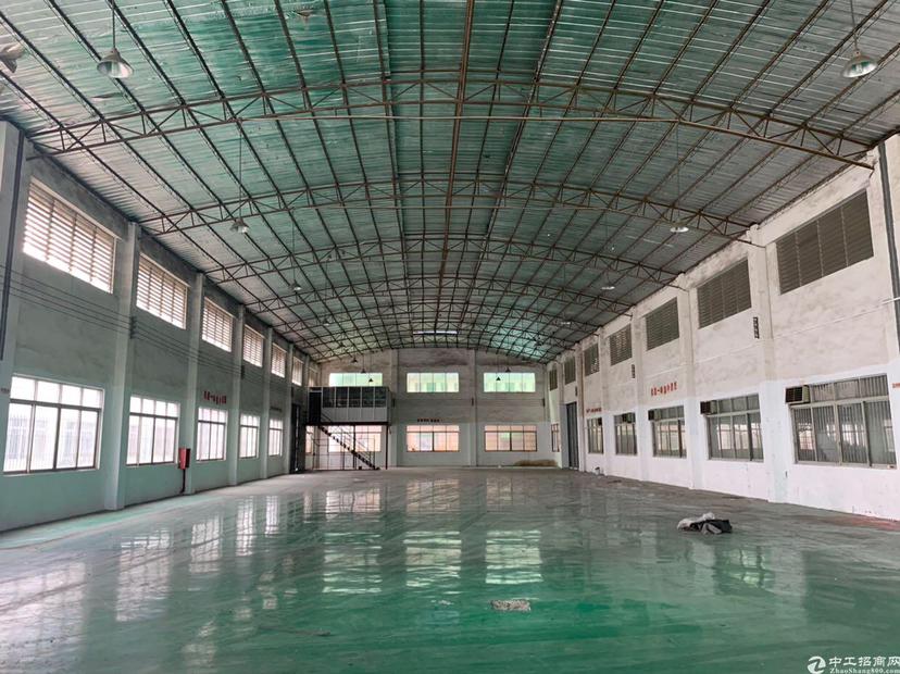 广州狮岭镇原房东单一层钢结构1500平,证件齐全,可办环评