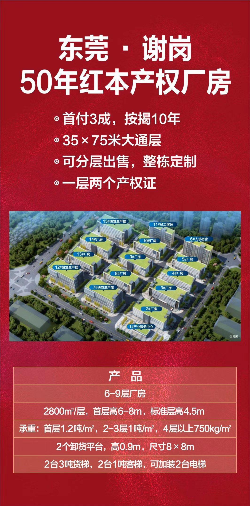 广东新出首付3成红本50年4.0标准厂房均价5000元出售