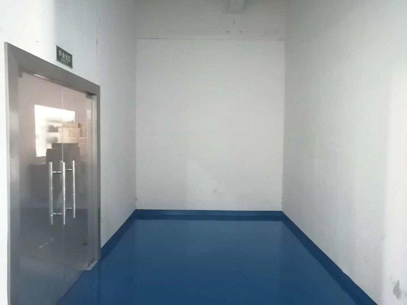 观澜新田新出四楼500平带地坪漆装修厂房。