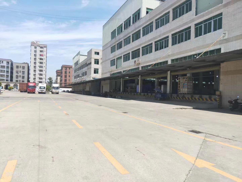 虎门带卸货平台高标准物流仓库22000平米一楼高8米,空地大