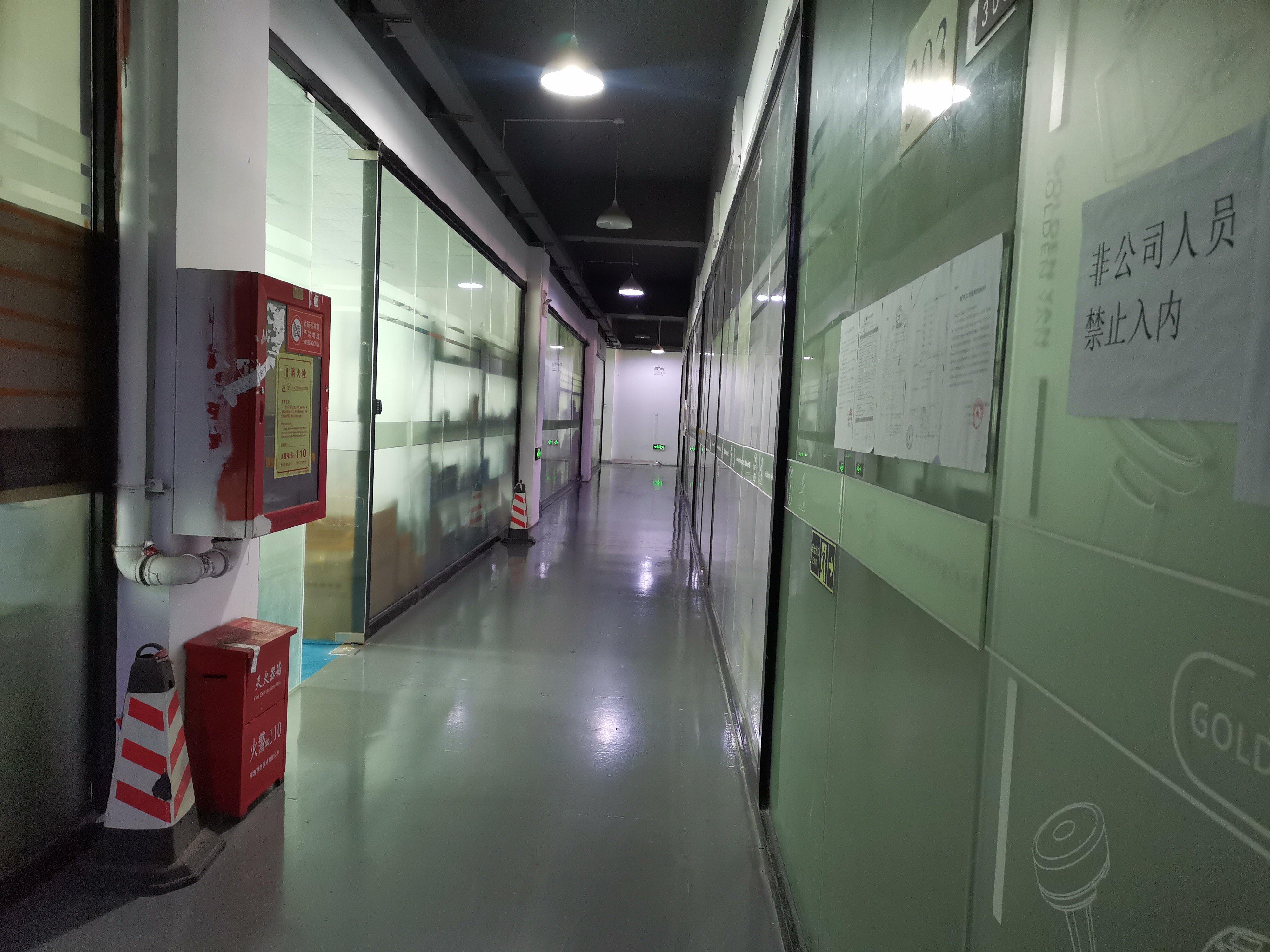 龙华大浪商业中心附近新出精装修厂房办公室仓库636平出租。