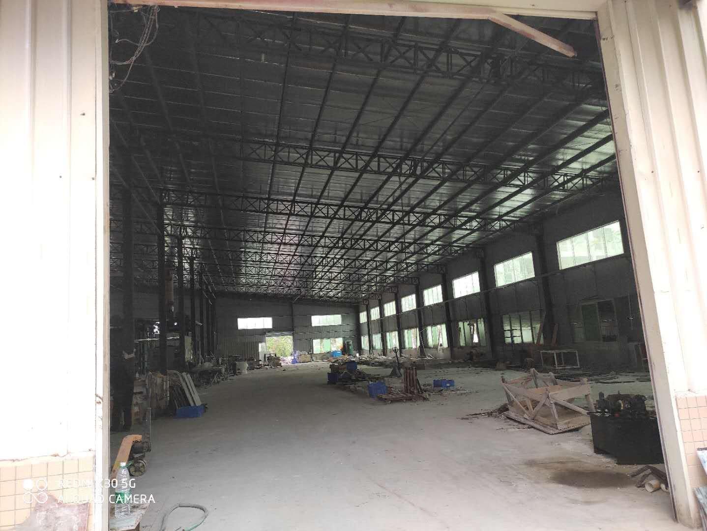 惠城区江北新空出标准钢构厂房滴水八米,1500平方招租。