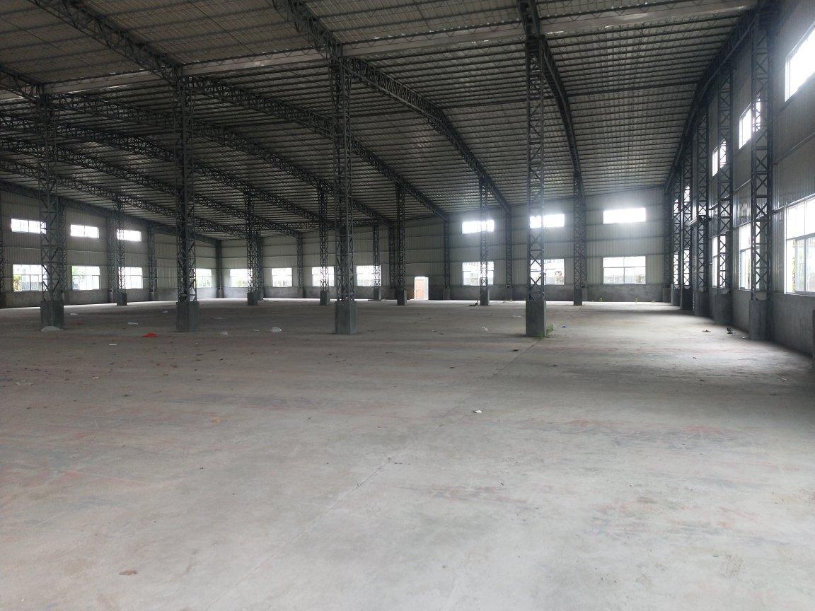 园洲大道边上新出单一层滴水8.5米3600方厂房,空地很大