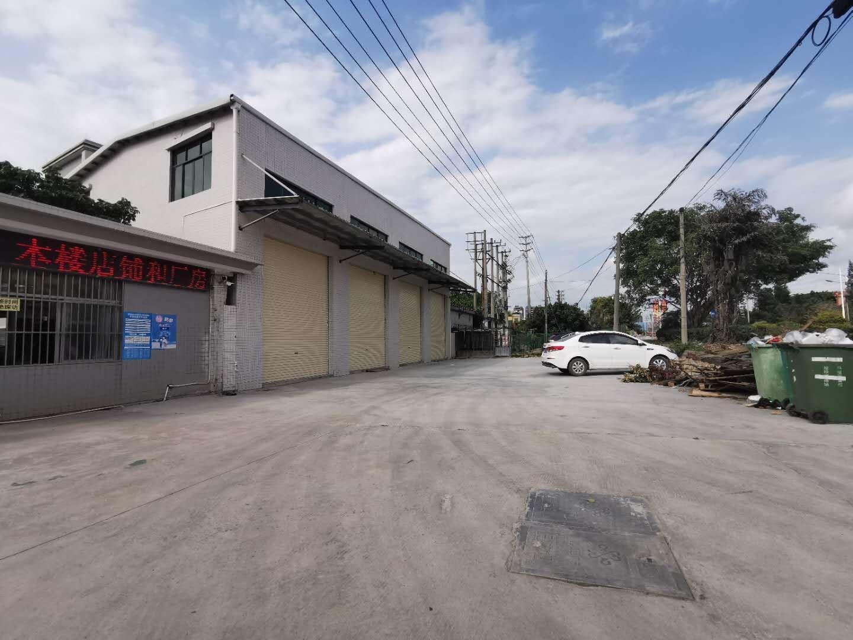 惠东县多祝山镇临街新出钢构仓库滴水六米680平整租