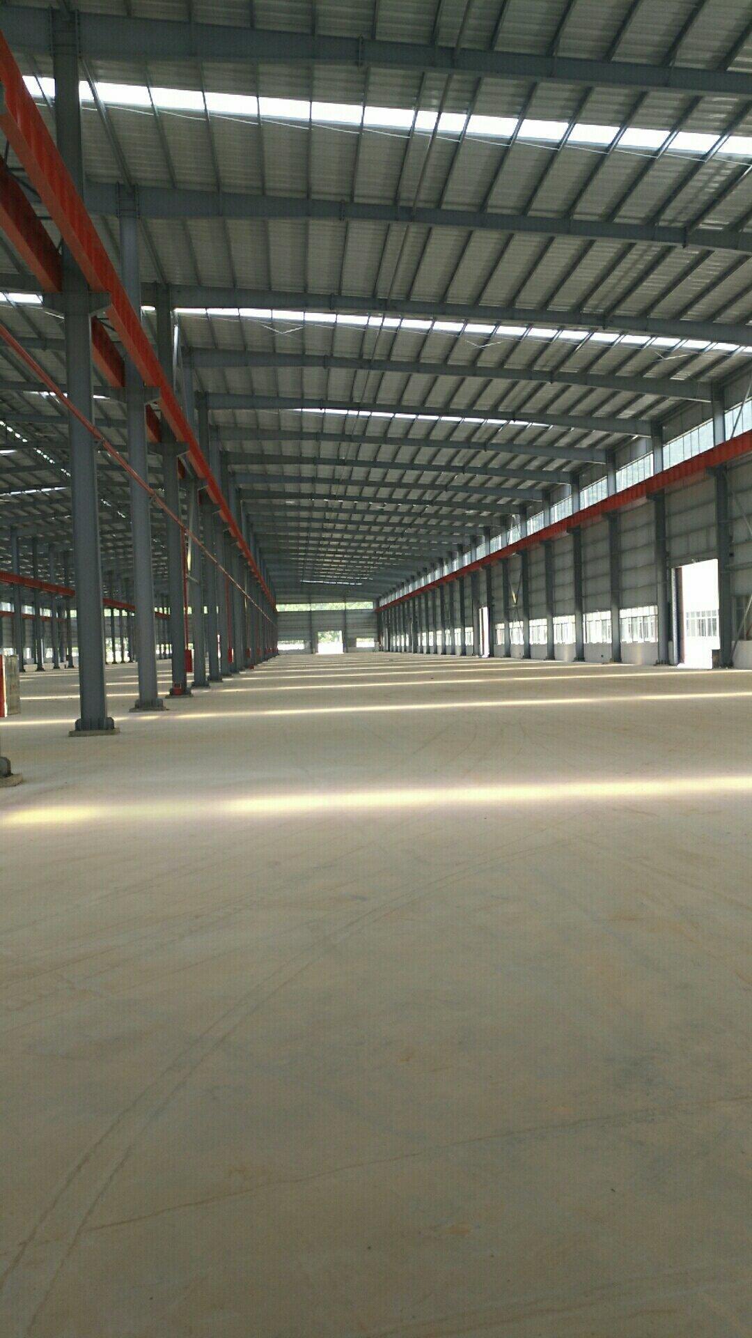 广东省肇庆市带有现成航车轨道全新钢构长度超长厂房出租-图2