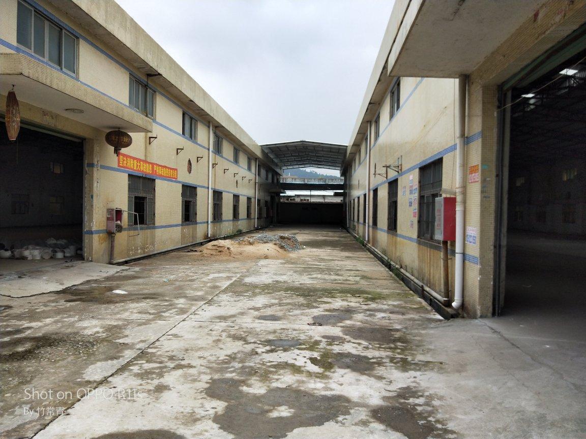 博罗县龙溪镇园区厂房分租1800㎡滴水9米 6米牛腿柱