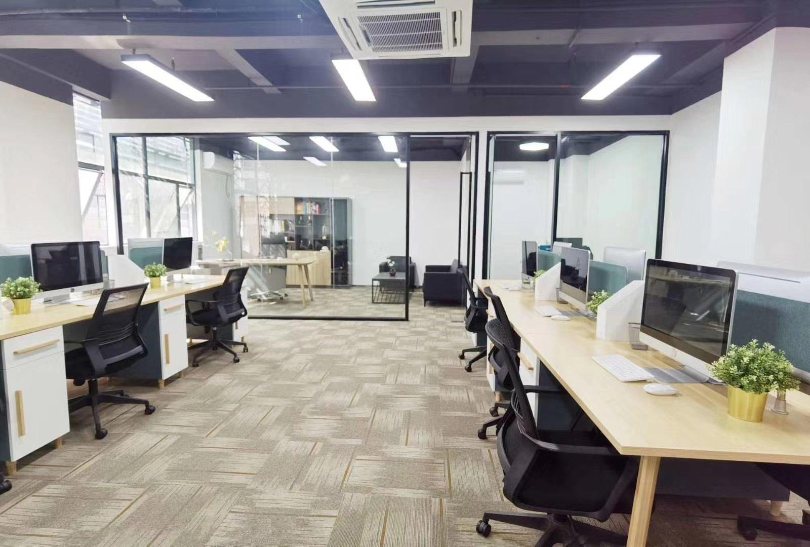 西丽大学城办公室万博app官方下载120平米招租,带办公用品