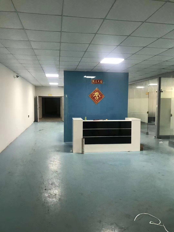 福永107国道边楼上精装修750平厂房出租