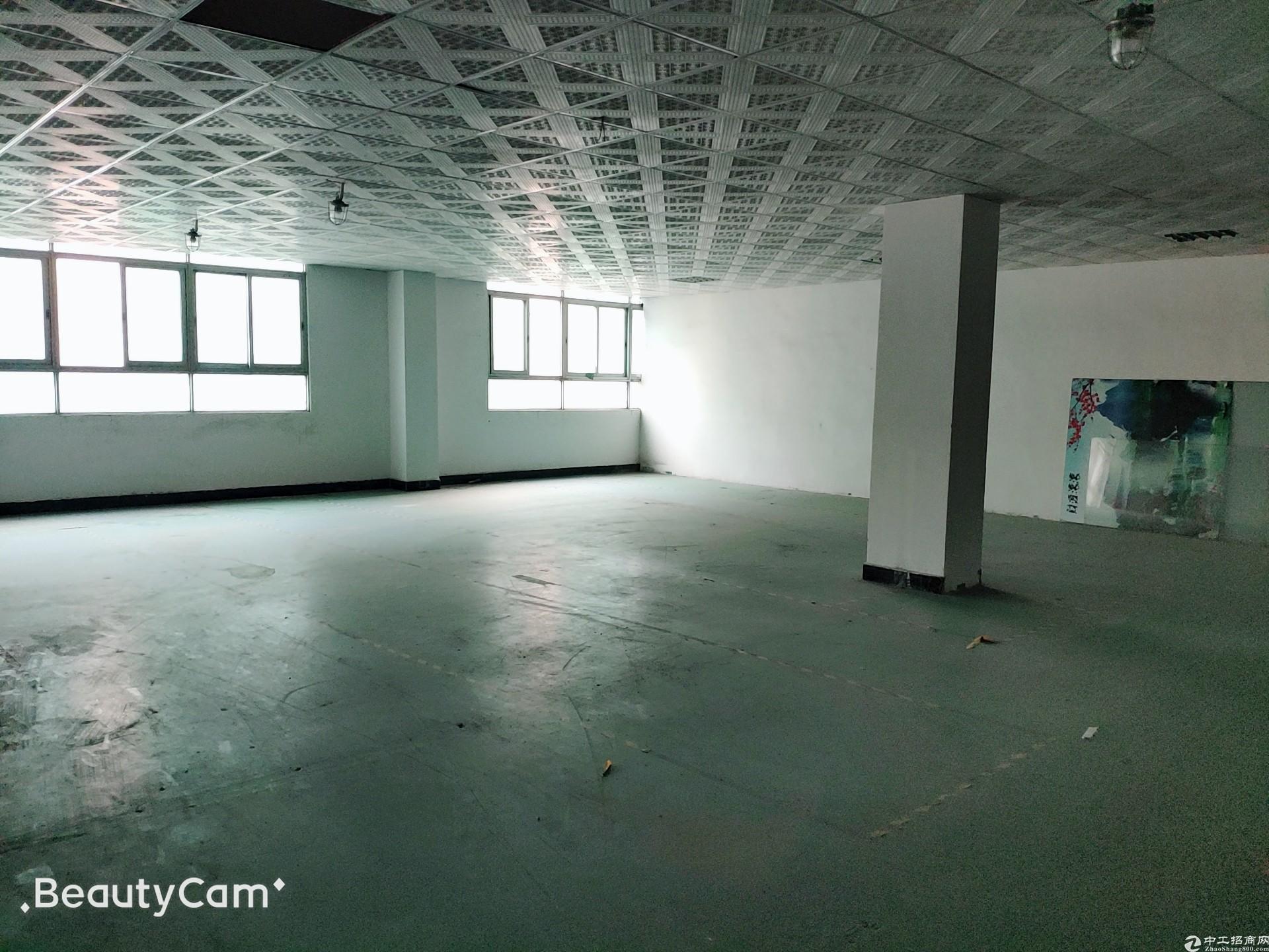 松岗塘下涌广场附近新出原房东楼上带装修厂房300平水电到位